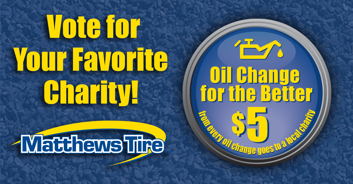 Vote for Your Favorite Charity - Oil Change for the Better
