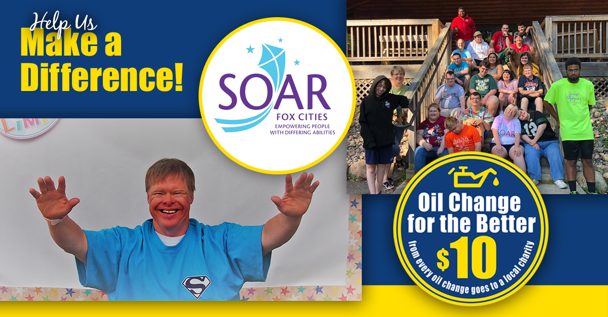 Support SOAR Fox Cities with an Oil Change for the Better